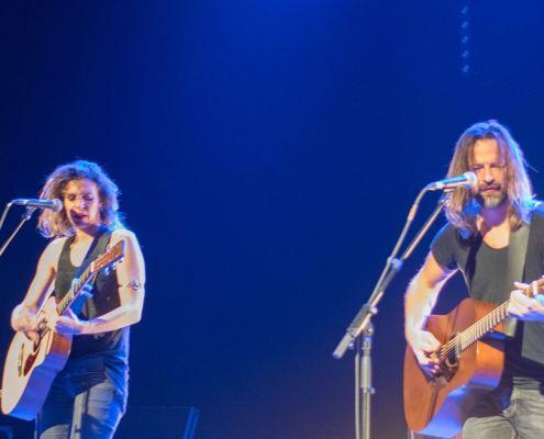 le duo fergessen en concert à Meisenthal