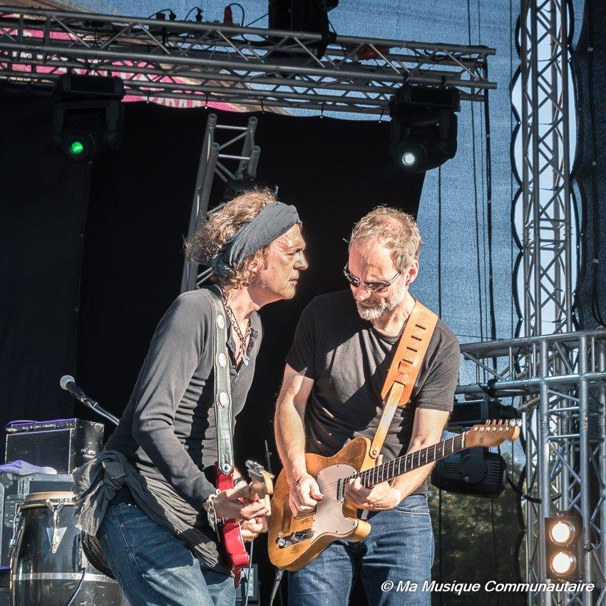 concert de l'artiste allemand Wolf Maahn lors de l' Altstadtfest de Sarrebrücken