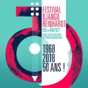 affiche du festival Django Reinhardt 2018