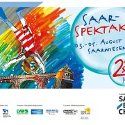 affiche du 20e Saarspektakel, un festival et une manifestation sarroise