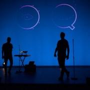 ombre chinoise du duo Rouquine en concert