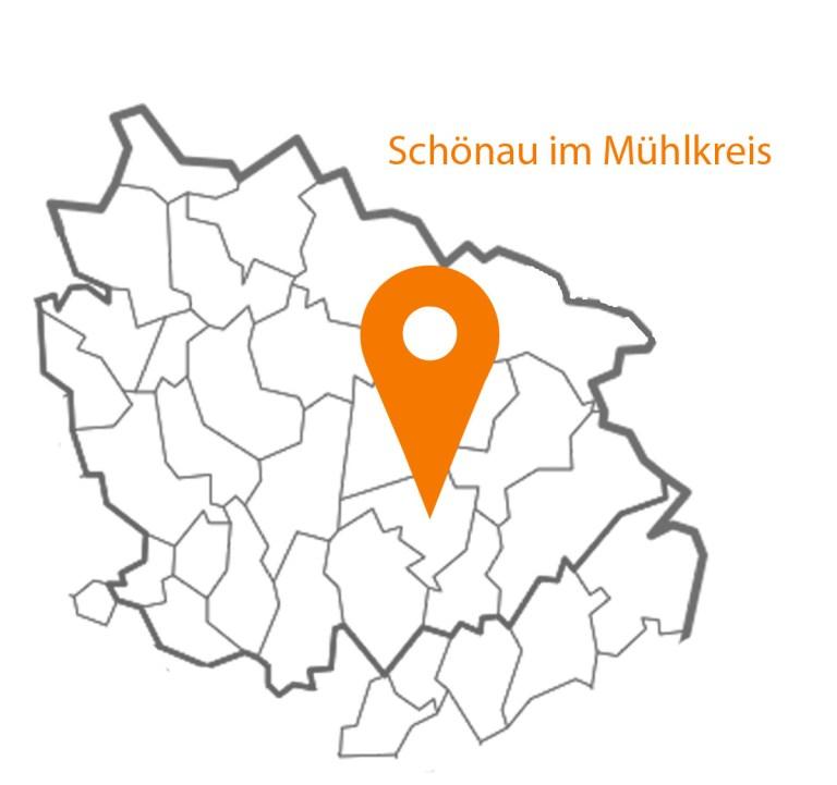 Landkarte Schönau im Mühlkreis MAP