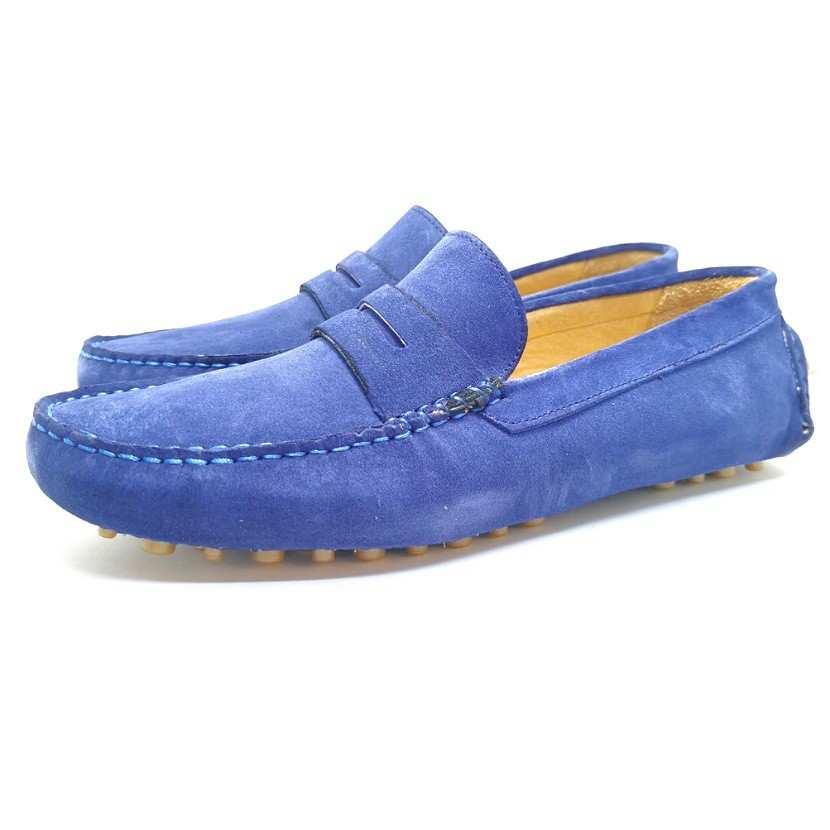 chaussure mocassin TENDER pour homme bleu