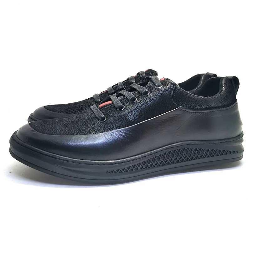 Chaussure de ville Flex-Confort pour homme noir