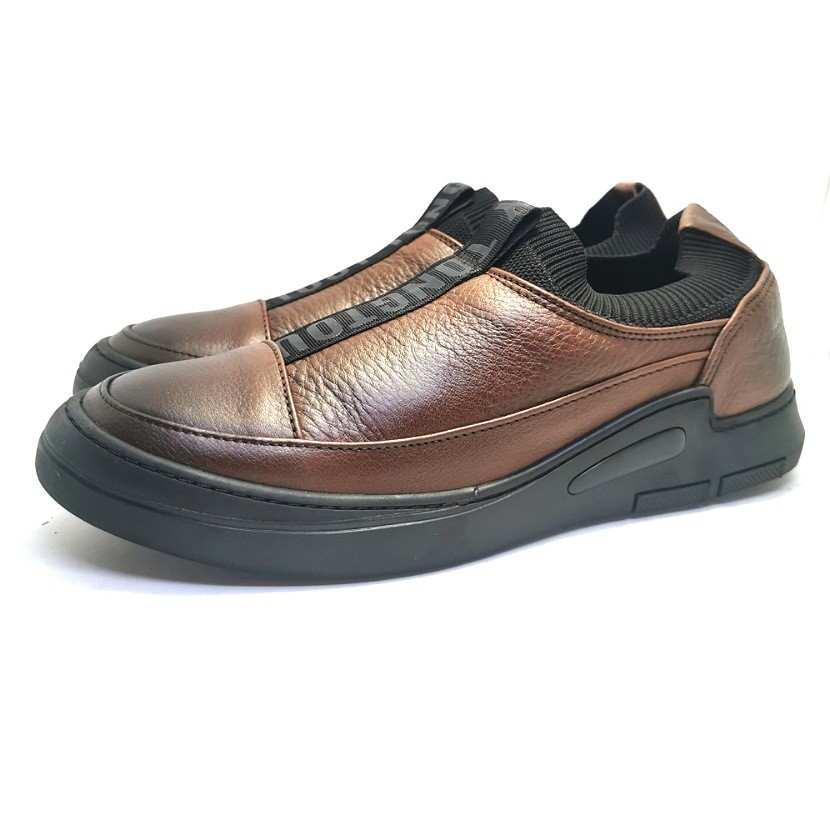 Chaussure homme de style Basket GHIMS-Confort pour homme sans laçage camel