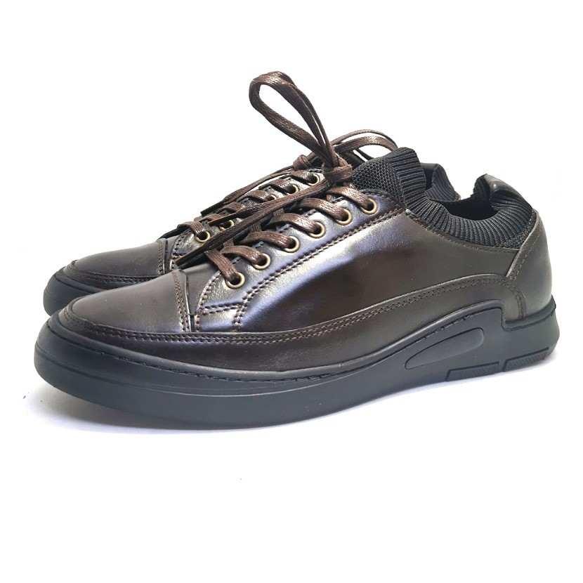 Chaussure homme de style Basket GHIMS-Confort pour homme avec laçage marron
