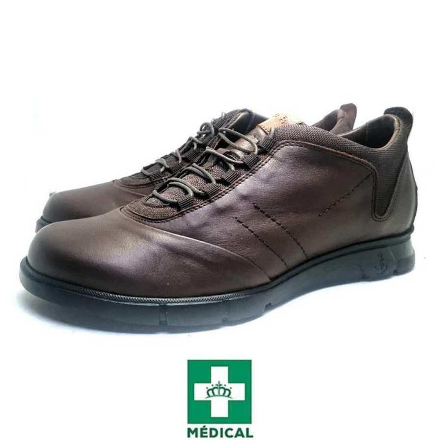 Chaussure de ville Clow-Confort pour homme cuir marron
