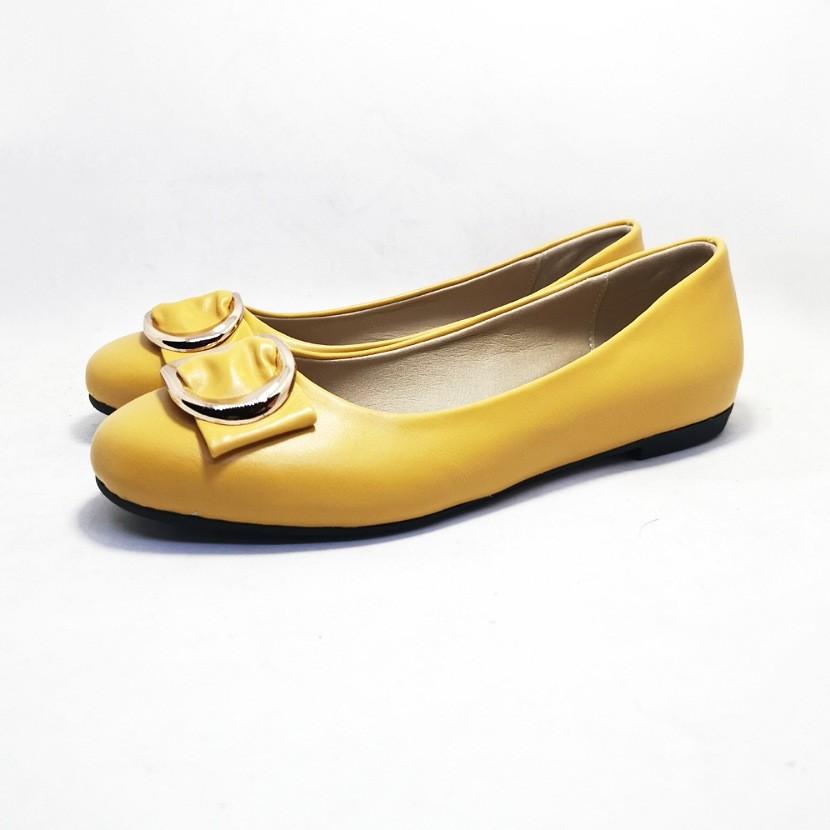 ballerine ketoff pour femme moutarde