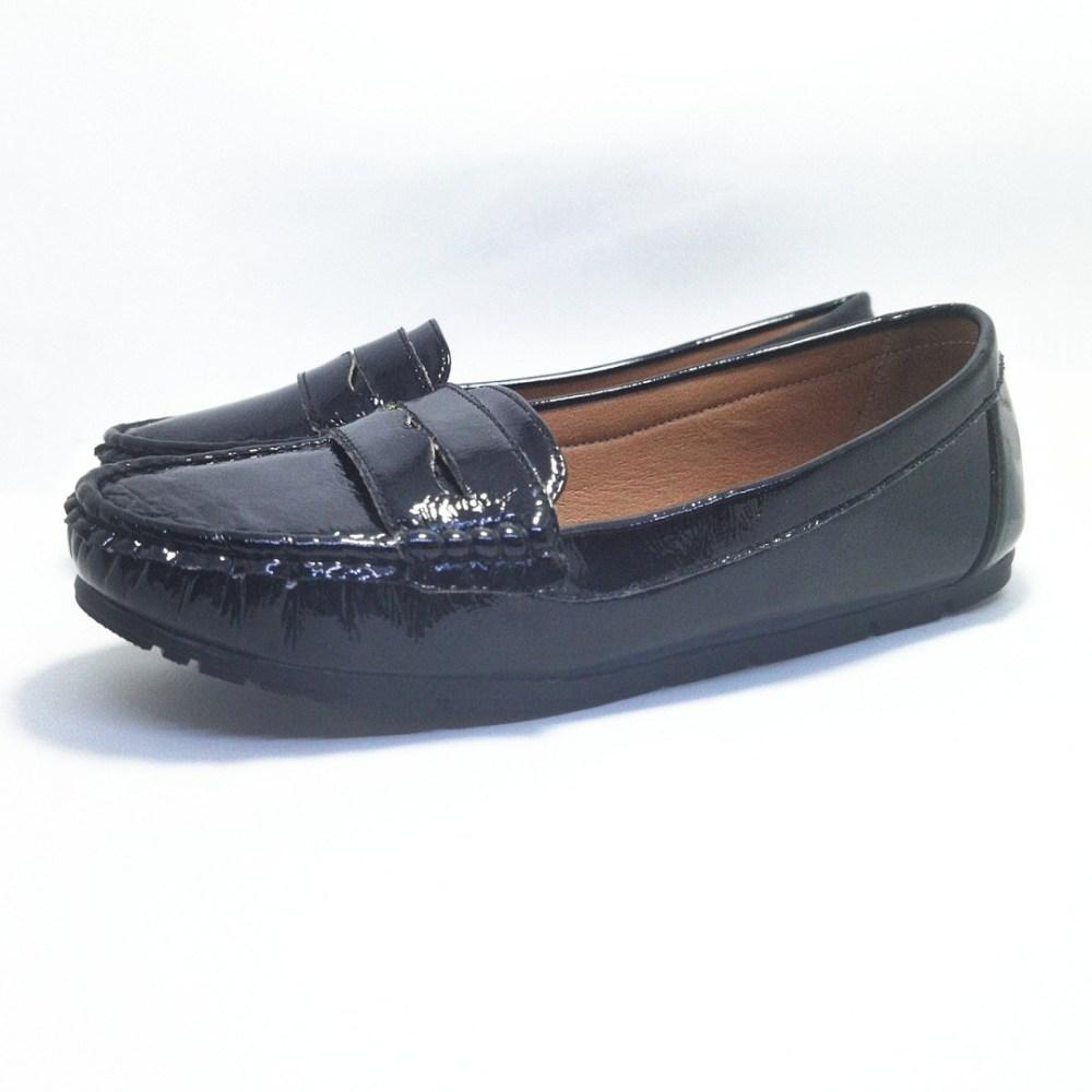 mocassin confort SICROW noir pour femme