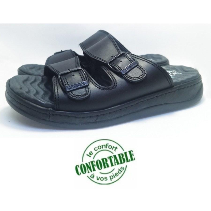 sandale médical MOLEX noir pour homme