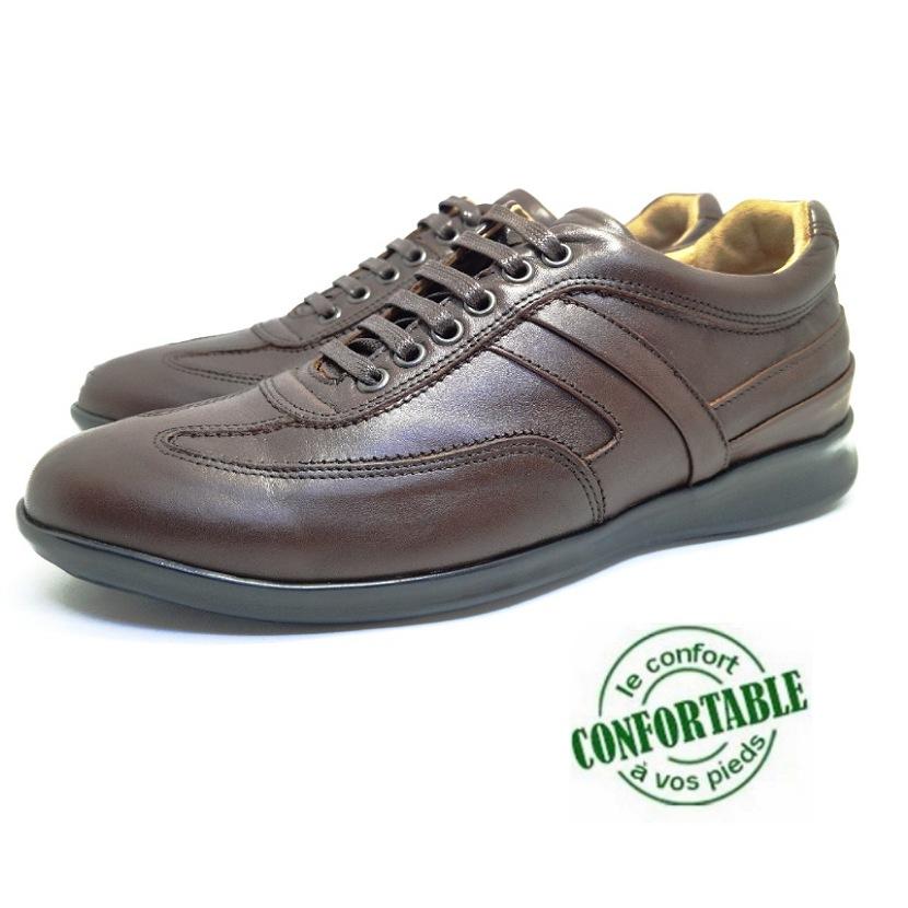 Chaussure ville ROTWEAR-Confort pour homme marron