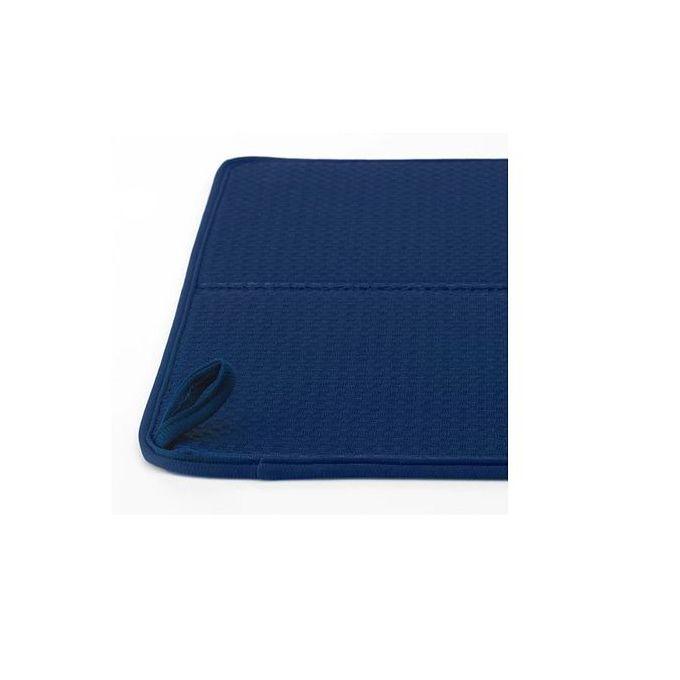 tapis pour egoutter la vaisselle bleu 44x36 cm