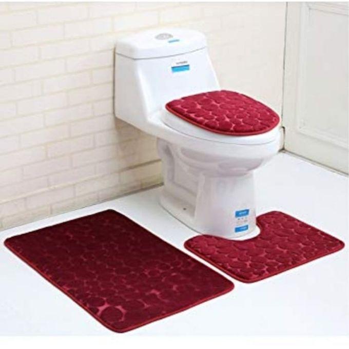 universal tapis couverture pour toilette 3 pieces