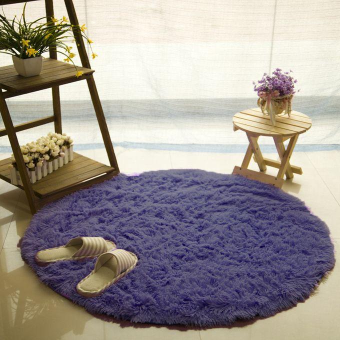 decoratif tapis rond epais et doux pour chambre a coucher moderne 60 x 60 cm