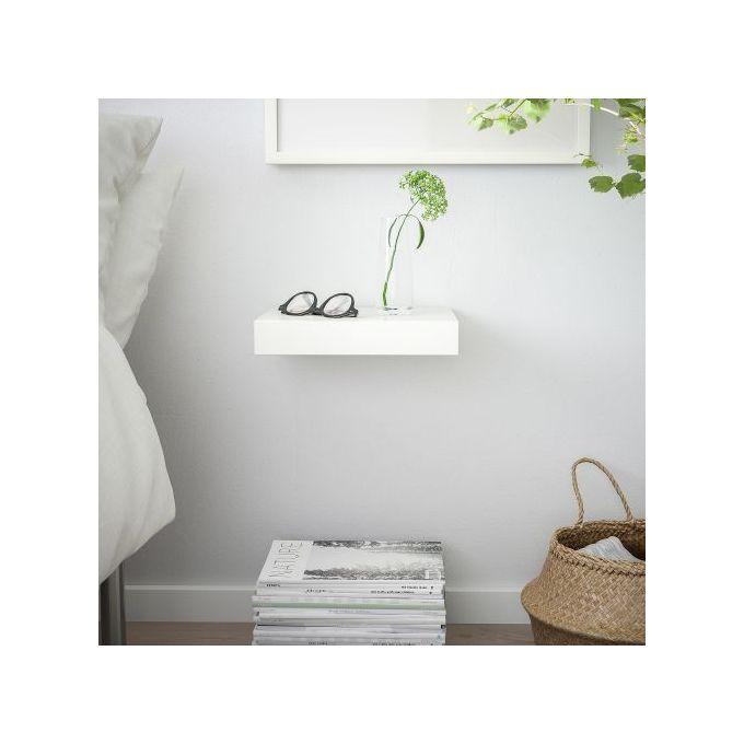 etagere murale blanc 30x26 cm