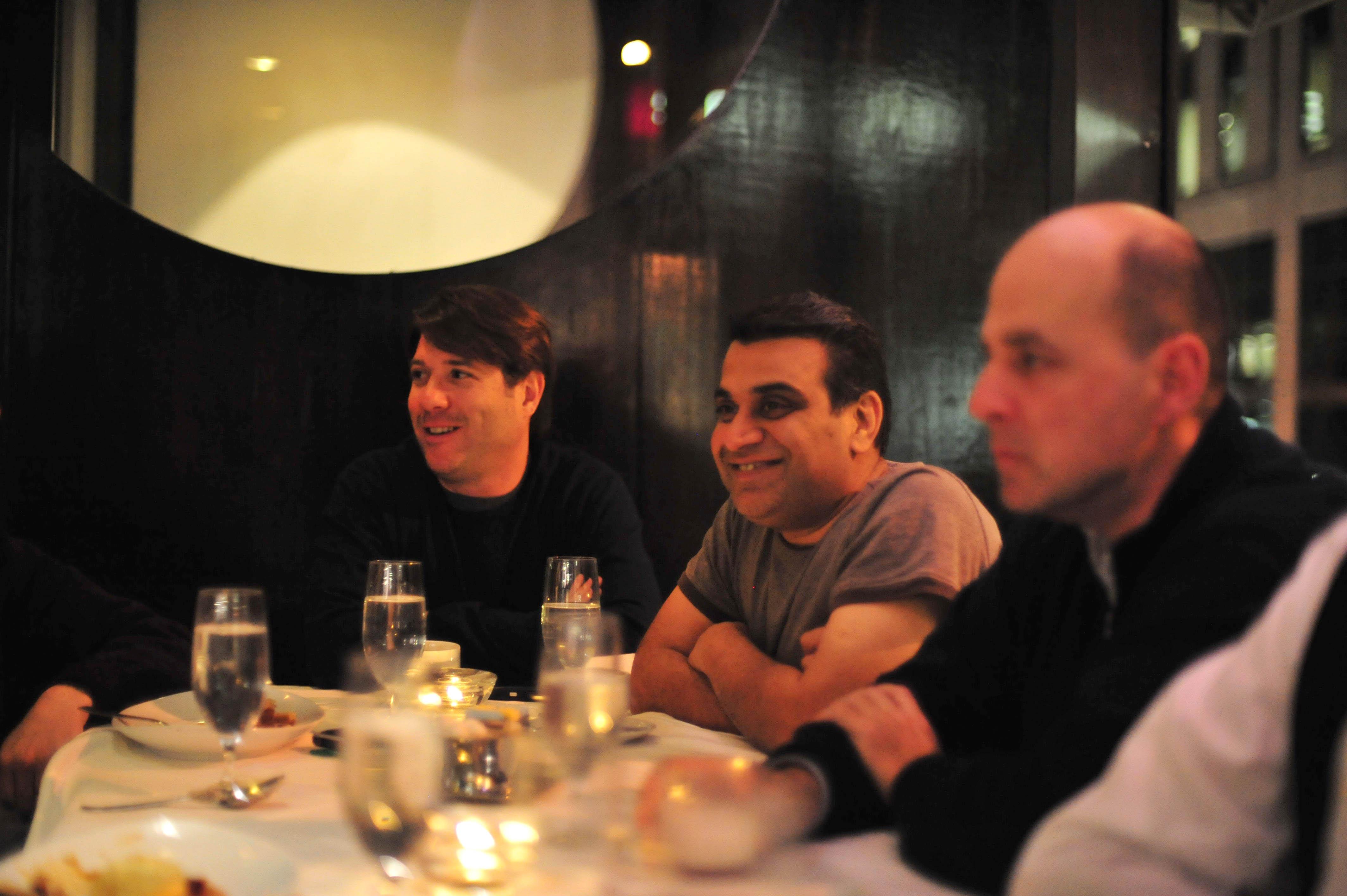 Om Malik, Paul Walborsky, John Burke