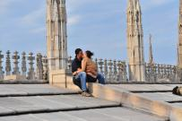 Kissing on top of church2 Comments