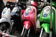 Colored scooters