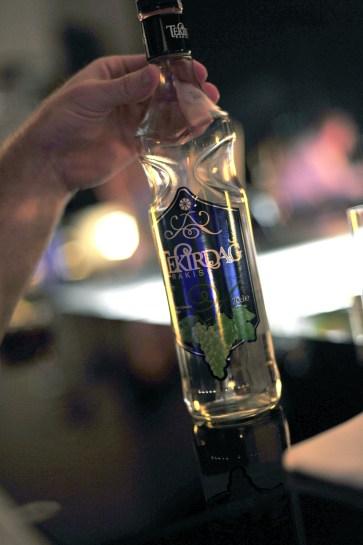 Bottle of raki