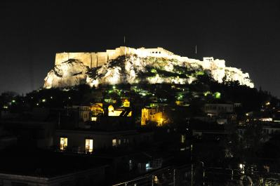 The acropolis at night