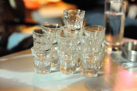 These were previously filled with Ouzo