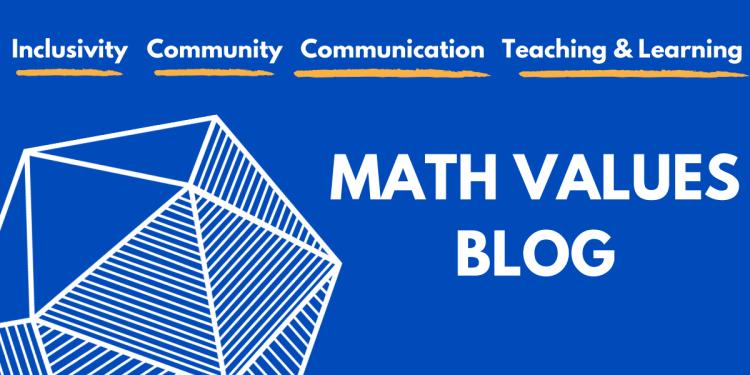 Math Values Blog. Photo of a blue icosahedron. Link to the MAA Math Values Blog.