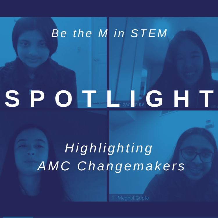 Spotlight. Image of 4 women math competitors.  https://maa-amc.org/community/spotlight/