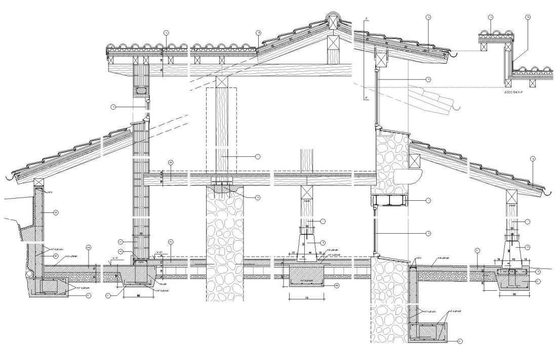 Caserio Egurbide - Detalles constructivos