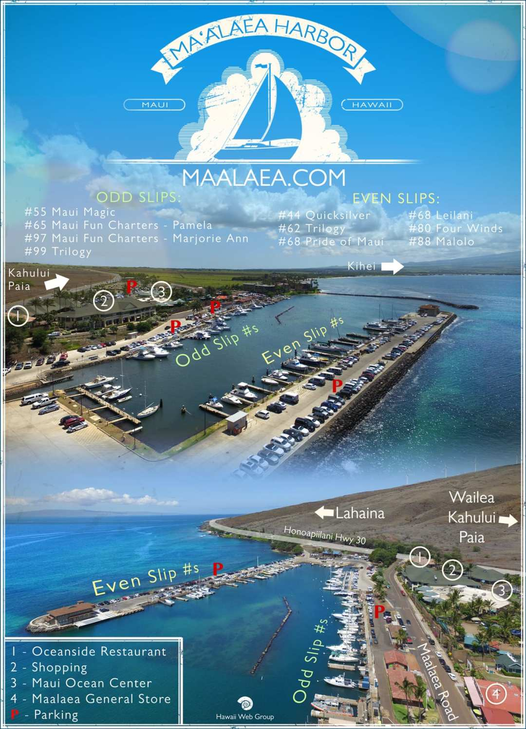 Maalaea Harbor Map