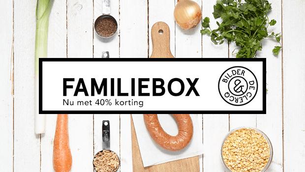 Familiebox met 40% korting.