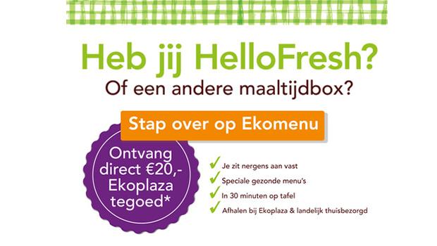 maaltijdbox overstapweken Ekomenu Ekoplaza aanbieding
