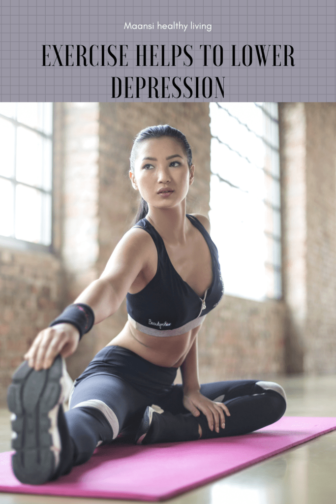 Exercise helps to overcome depression