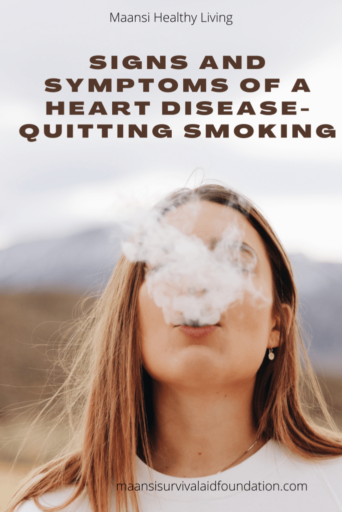 Quitting smoking may reduce risk of heart disease.