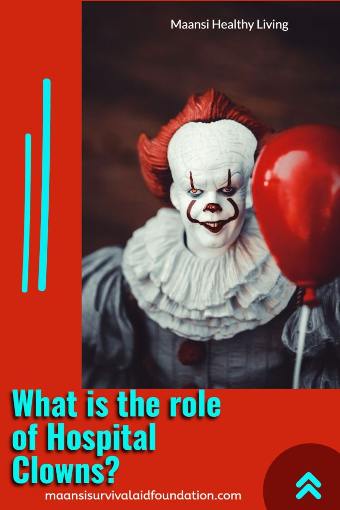 What is the role of hospital clowns?