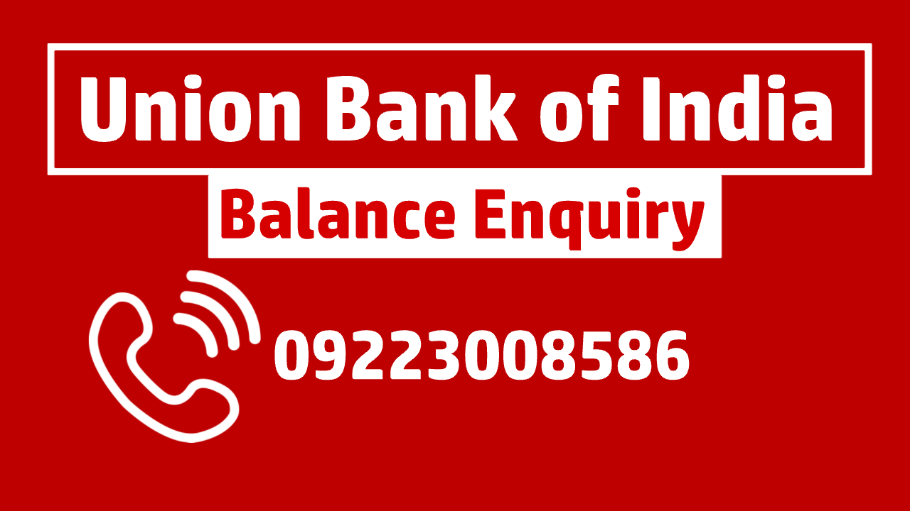 Union Bank of India balance check
