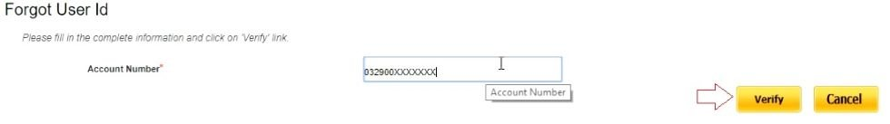 enter account number