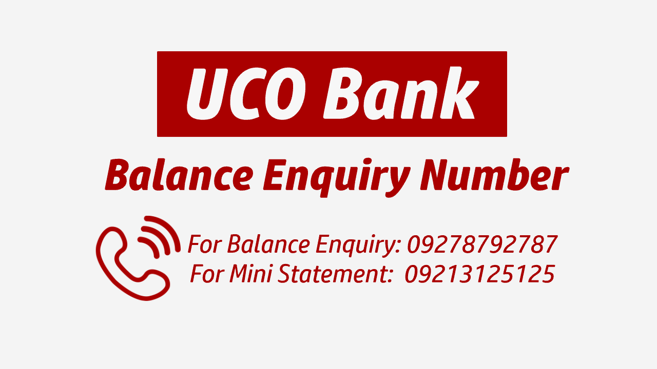UCO bank balance check