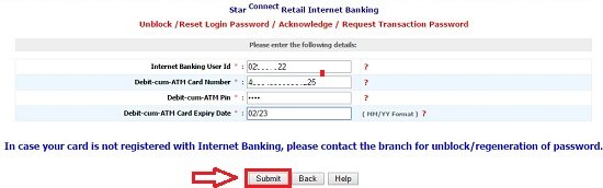 bank of india forgot user id and password