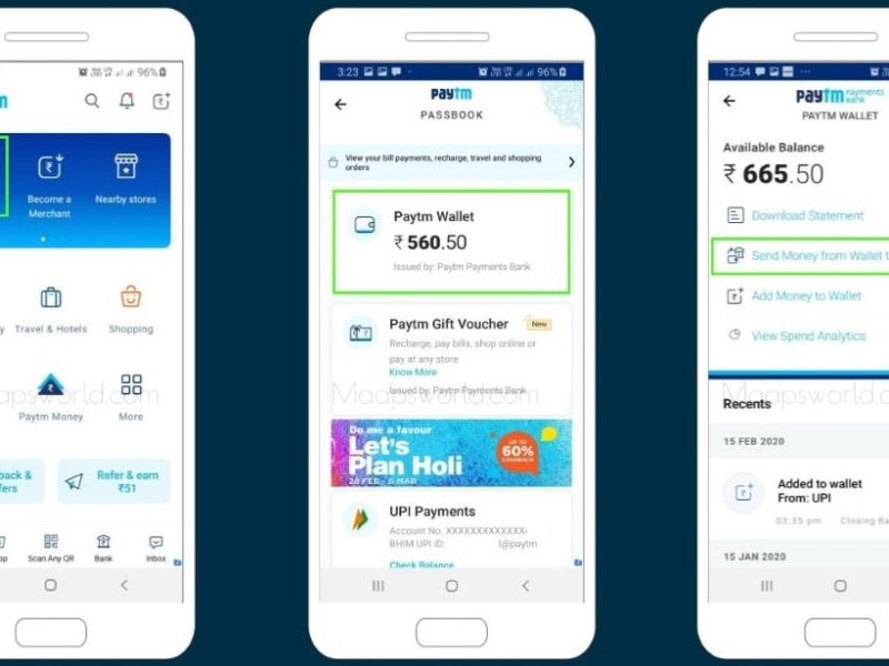 how to transfer money from Paytm wallet to bank account