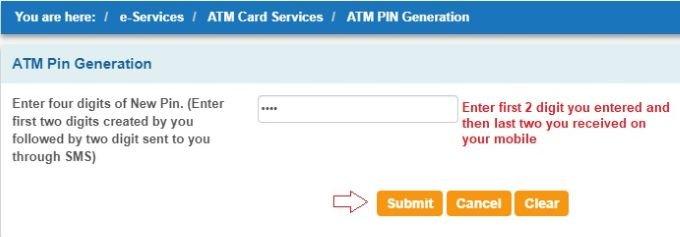 forgot SBI ATM pin