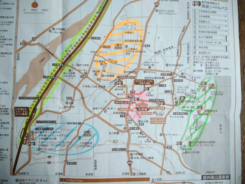 小布施観光地図