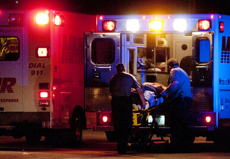 Image result for domestic violence and gun shot wound victims with ambulances