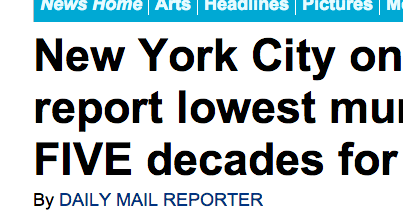 http://www.dailymail.co.uk/news/article-2253486/New-York-City-course-report-lowest-murder-rate-FIVE-decades-2012.html