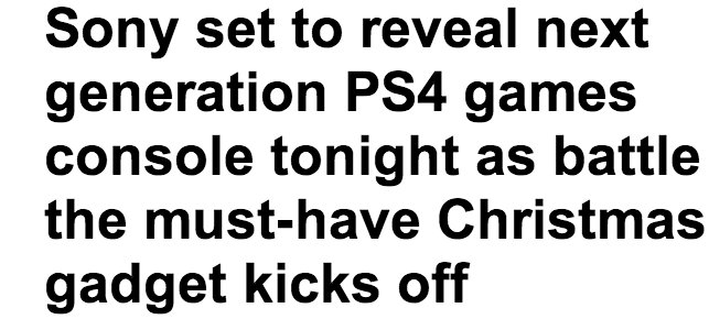 http://www.dailymail.co.uk/sciencetech/article-2281585/Sony-set-reveal-generation-PS4-games-console--set-sale-time-Christmas.html