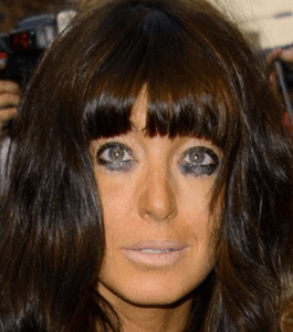 http://www.dailymail.co.uk/tvshowbiz/article-2410619/Claudia-Winkleman-goes-GQ-Awards-smudged-makeup-messy-hair-uneven-tan.html