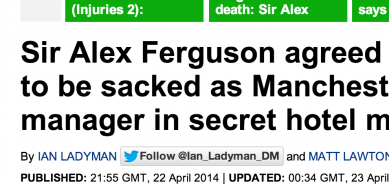 http://www.dailymail.co.uk/sport/football/article-2610715/Sir-Alex-Ferguson-agreed-David-Moyes-sacked-Manchester-United-manager-secret-hotel-meeting.html