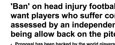 http://www.dailymail.co.uk/health/article-2690917/Ban-head-injury-footballers-Medics-want-players-suffer-concussion-assessed-independent-doctor-allow-pitch.html