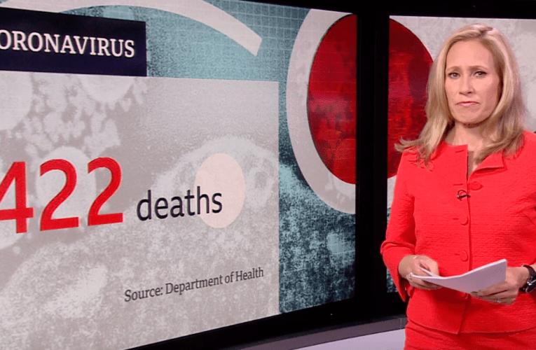 イギリス コロナ死者は422人へ (3月25日) BBC