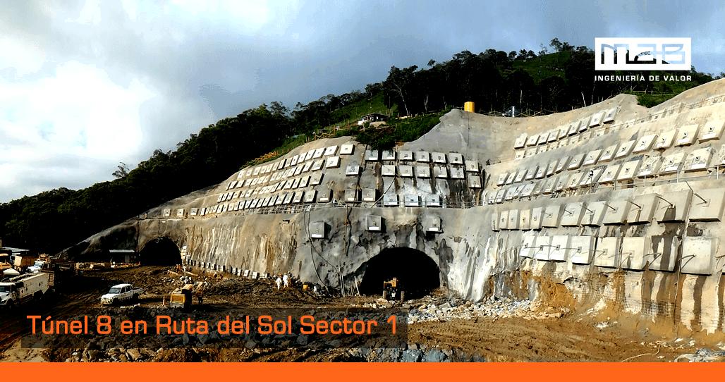 Avanza excavación Túnel 8 en Ruta del Sol sector 1