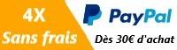 Paiement en 4X sans frais avec Paypal !